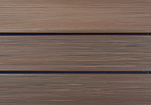 DuraLife Tropical Walnut capped composite decking is a richer, deeper brown than our Golden Teak colour,
